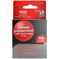 ZONNIC PEPPERMINT 1 mg/suihke sumute suuonteloon, liuos (2x15 ml)2x200 annosta