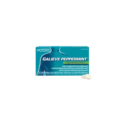 GALIEVE PEPPERMINT 250/133,5/80 mg purutabl 24 fol