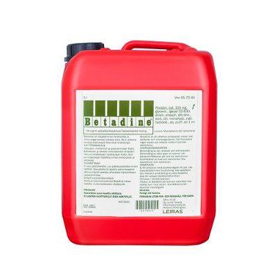 BETADINE 100 mg/ml paikallisantiseptiliuos 5000 ml