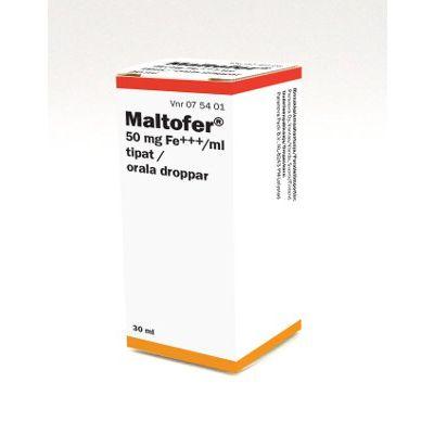 MALTOFER 50 mg/ml tipat, liuos 30 ml