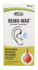 REMO-WAX KORVATIPAT + PUMPPU 10 ml