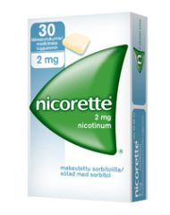NICORETTE 2 mg lääkepurukumi 30 fol